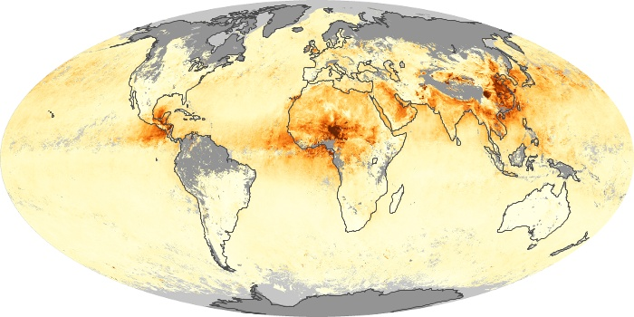 Global Map Aerosol Optical Depth Image 62