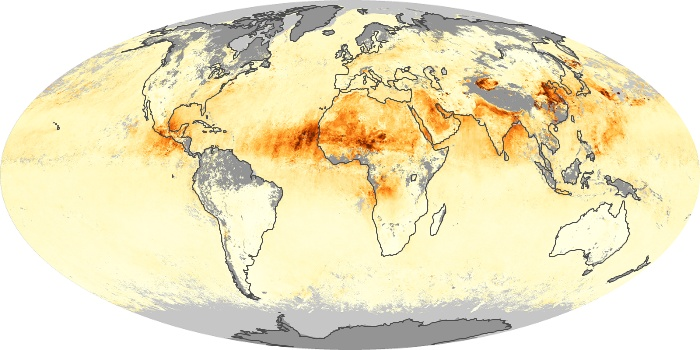 Global Map Aerosol Optical Depth Image 63