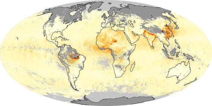 Global Map Aerosol Optical Depth Image 69