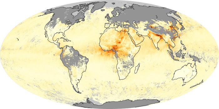 Global Map Aerosol Optical Depth Image 72