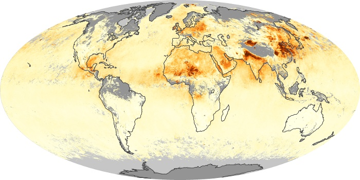 Global Map Aerosol Optical Depth Image 75
