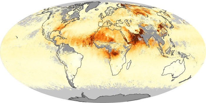 Global Map Aerosol Optical Depth Image 77