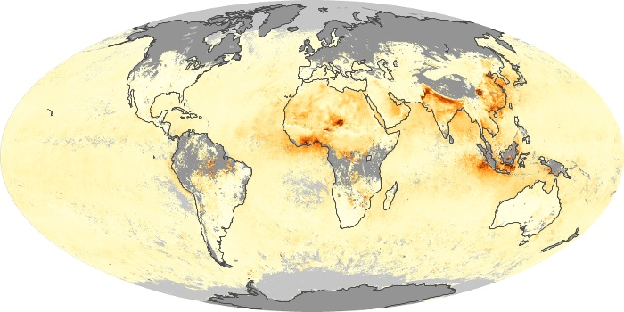 Global Map Aerosol Optical Depth Image 81