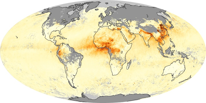 Global Map Aerosol Optical Depth Image 84