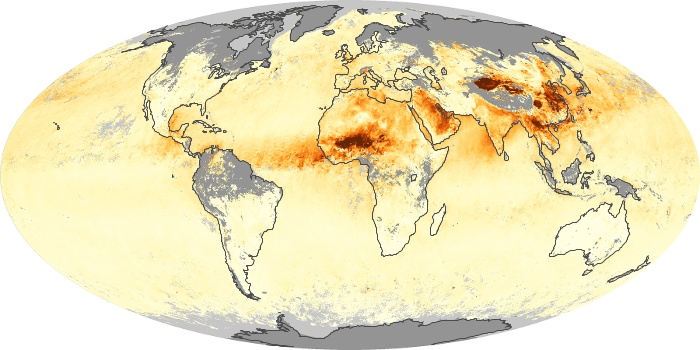 Global Map Aerosol Optical Depth Image 86