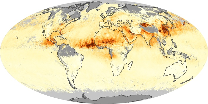 Global Map Aerosol Optical Depth Image 87