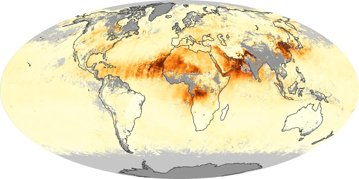 Global Map Aerosol Optical Depth Image 89