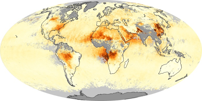 Global Map Aerosol Optical Depth Image 90