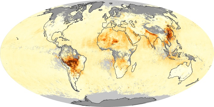 Global Map Aerosol Optical Depth Image 92