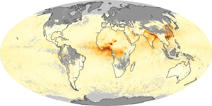 Global Map Aerosol Optical Depth Image 94