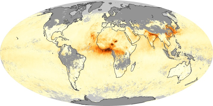 Global Map Aerosol Optical Depth Image 95