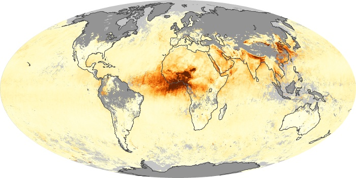 Global Map Aerosol Optical Depth Image 68