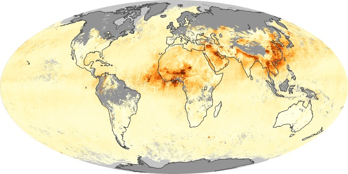 Global Map Aerosol Optical Depth Image 97