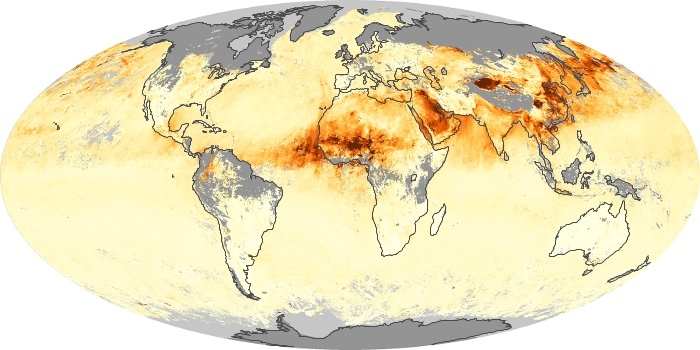 Global Map Aerosol Optical Depth Image 98