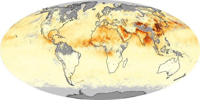 Global Map Aerosol Optical Depth Image 71