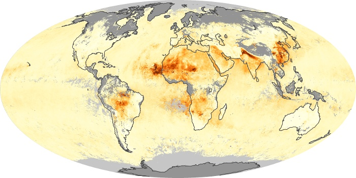 Global Map Aerosol Optical Depth Image 104