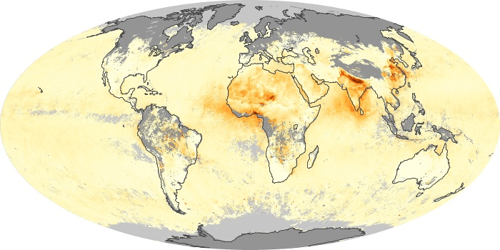 Global Map Aerosol Optical Depth Image 105