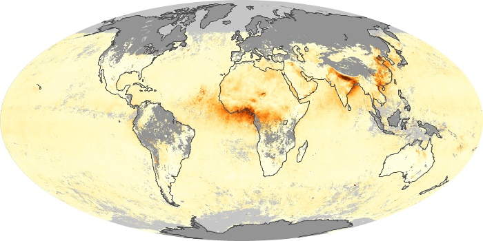Global Map Aerosol Optical Depth Image 106