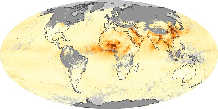 Global Map Aerosol Optical Depth Image 80