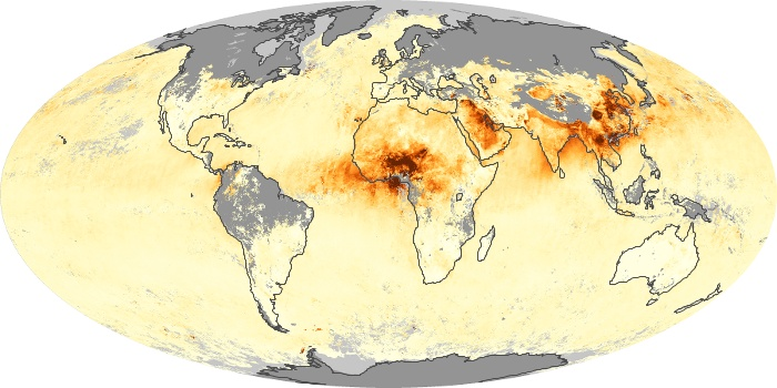 Global Map Aerosol Optical Depth Image 109
