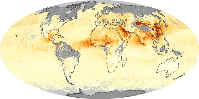 Global Map Aerosol Optical Depth Image 110