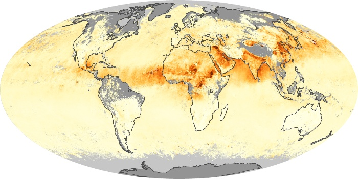 Global Map Aerosol Optical Depth Image 111