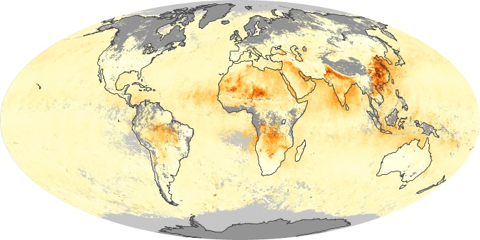 Global Map Aerosol Optical Depth Image 116
