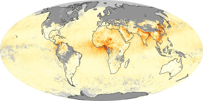 Global Map Aerosol Optical Depth Image 120