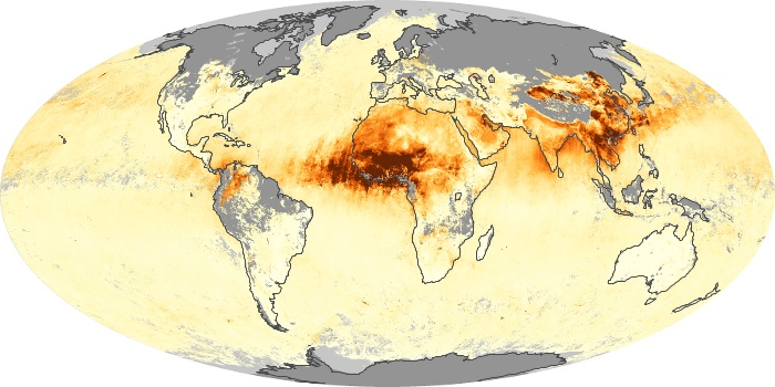 Global Map Aerosol Optical Depth Image 93