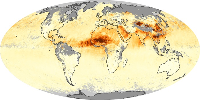 Global Map Aerosol Optical Depth Image 122