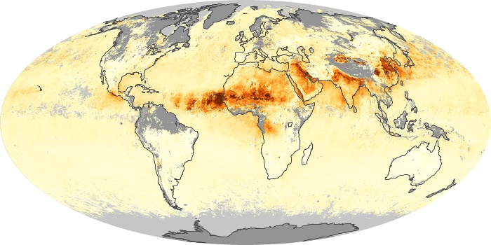 Global Map Aerosol Optical Depth Image 123