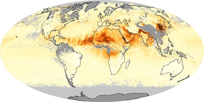 Global Map Aerosol Optical Depth Image 96
