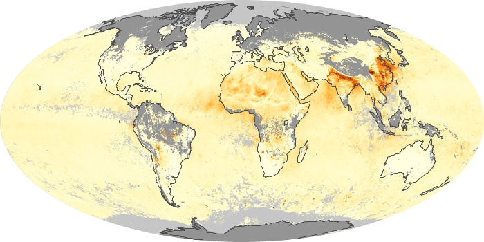Global Map Aerosol Optical Depth Image 129