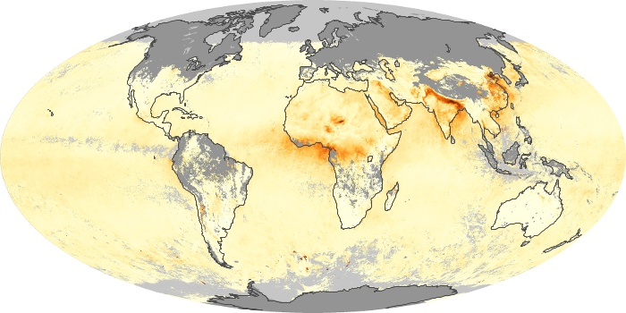 Global Map Aerosol Optical Depth Image 130