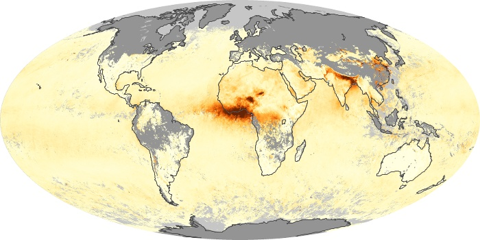 Global Map Aerosol Optical Depth Image 131