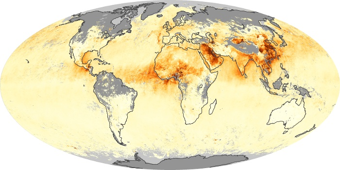 Global Map Aerosol Optical Depth Image 134