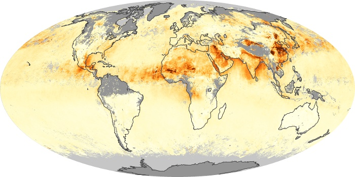 Global Map Aerosol Optical Depth Image 135