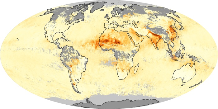 Global Map Aerosol Optical Depth Image 140