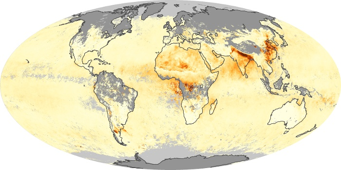 Global Map Aerosol Optical Depth Image 141
