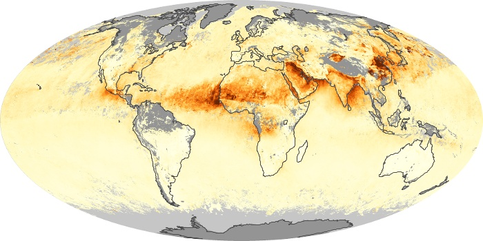 Global Map Aerosol Optical Depth Image 147