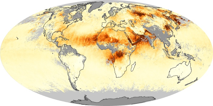 Global Map Aerosol Optical Depth Image 149