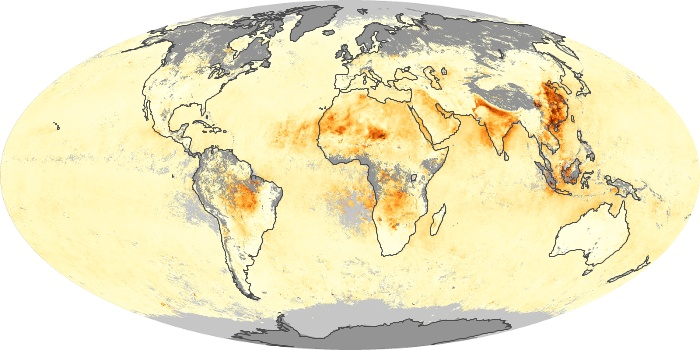 Global Map Aerosol Optical Depth Image 152