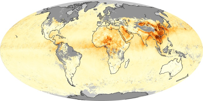 Global Map Aerosol Optical Depth Image 157