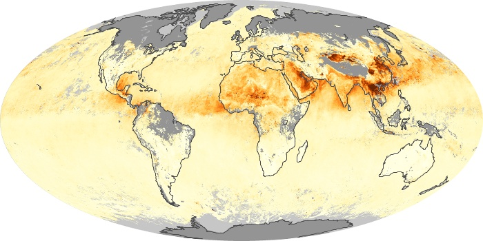 Global Map Aerosol Optical Depth Image 158