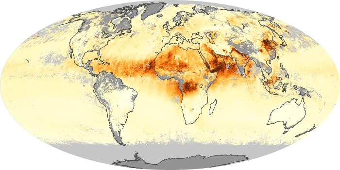 Global Map Aerosol Optical Depth Image 160