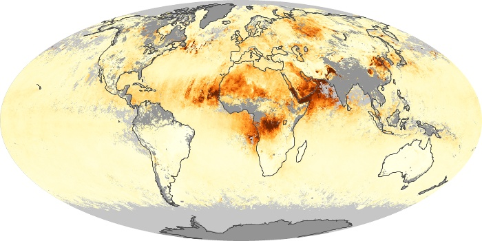 Global Map Aerosol Optical Depth Image 161