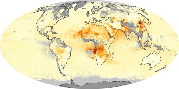 Global Map Aerosol Optical Depth Image 163