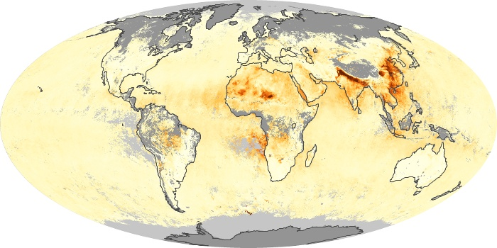 Global Map Aerosol Optical Depth Image 164