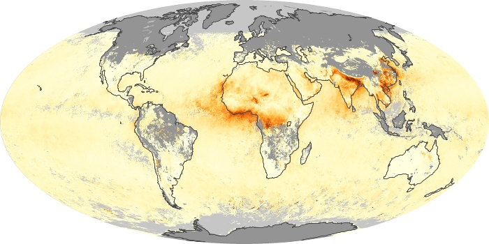 Global Map Aerosol Optical Depth Image 166