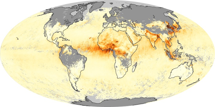 Global Map Aerosol Optical Depth Image 168